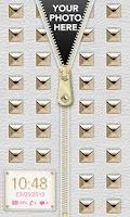Screenshot of Gold Stud Zipper Lock Screen ◘