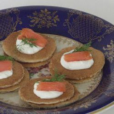 Buckwheat Blinis with Smoked Salmon