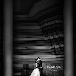 Pillars of love. Celebrating Jason & Kyreen by Desmond Teo - Wedding Bride & Groom ( wedding, parkroyal, pre wedding, hotel, park royal singapore, desmondseanteo, bride, groom, pillars, Wedding, Weddings, Marriage )