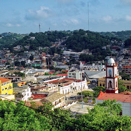 A View of Papantla, Mexico by Shane Adams - City,  Street & Park  Vistas ( papantla, urban, adventure, mexico, vista, travel, view, veracruz, city )