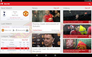 Screenshot of Manchester United