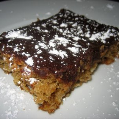 Chocolate Glazed Oatmeal Peanut Butter Bars