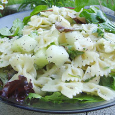 Bow Tie Pasta Salad With Fontina and Melon