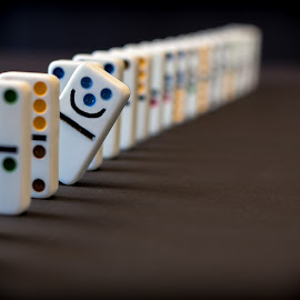 Happy different. by Per-Ola Kämpe - Artistic Objects Other Objects ( domino, happy, tile )