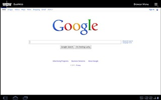 Screenshot of DualWeb Browser