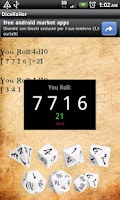 Screenshot of Dice Roller