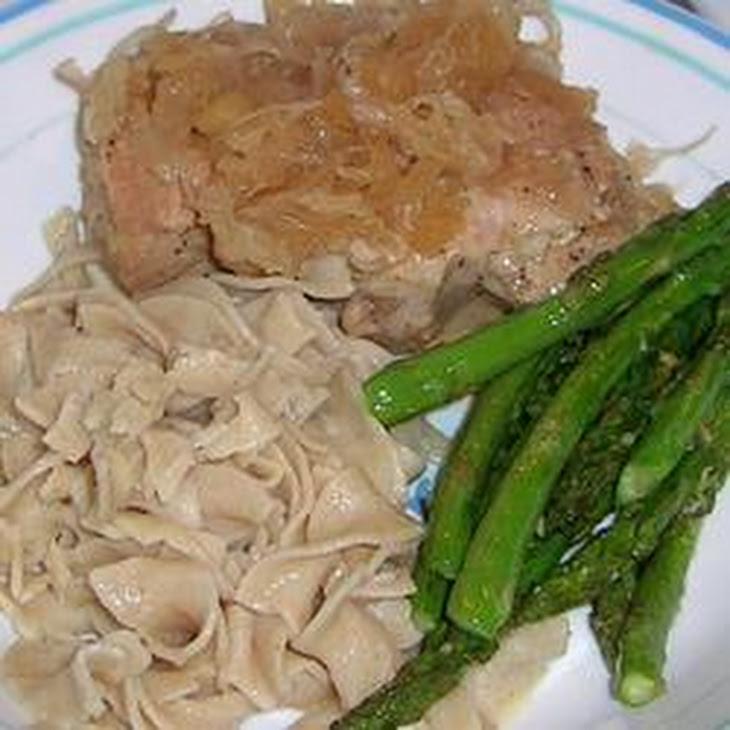 German Pork Chops and Sauerkraut Recipe   Yummly