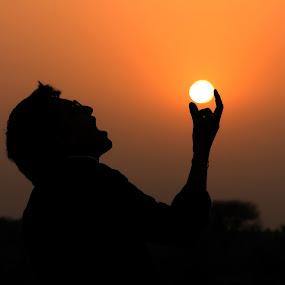 by Ashish Singla - Landscapes Sunsets & Sunrises ( sunset, landscape, man )