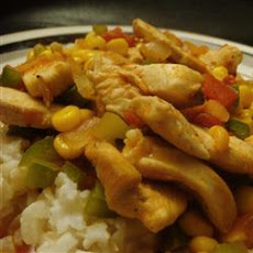 Spicy Chicken Corn Skillet