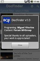 Screenshot of DocFinder