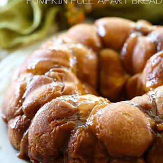 Cream Cheese Stuffed Pumpkin Spice Pull Apart Bread