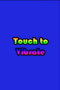 Touch Vibrate - screenshot