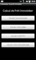 Screenshot of Calculateur de Prêt Immobilier