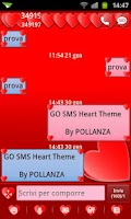 Screenshot of GO SMS Hearts Theme