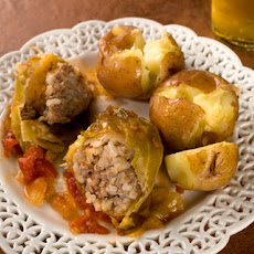 Slow-Cooked Stuffed Cabbage Recipe