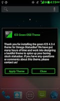 Screenshot of ICS Green OSB Theme