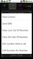 Screenshot of A Simple Call Log