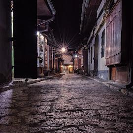 Kazandziluk by Bakir Lojo - City,  Street & Park  Street Scenes ( cobble, street, bosnia, sarajevo, night, alone, light )