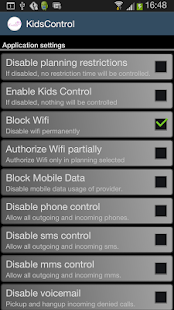 Kids control - screenshot