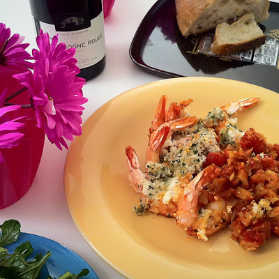 Roasted Shrimp with Feta: Guest Blogger Aileen Morgan!