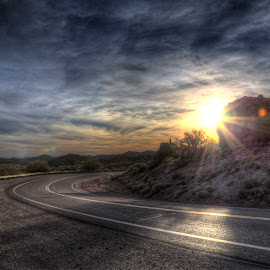Arizona Road by Courtney Walker - Landscapes Travel