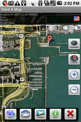 Send A Map -SMS Email Twitt
