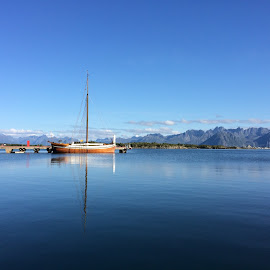 by Bente Agerup - Landscapes Travel ( clouds, mountains, boats, sea, ocean )