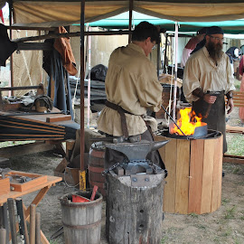 Smithy by James Menteith - City,  Street & Park  Markets & Shops ( blacksmith, shop, park, markets, street, photography, city )