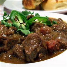 Beef, Green Chili and Tomato Stew