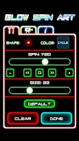 Screenshot of Glow Spin Art