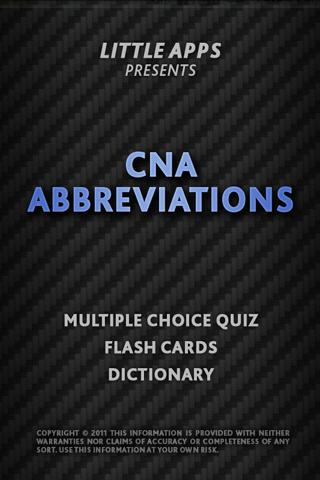CNA Medical Abbreviations