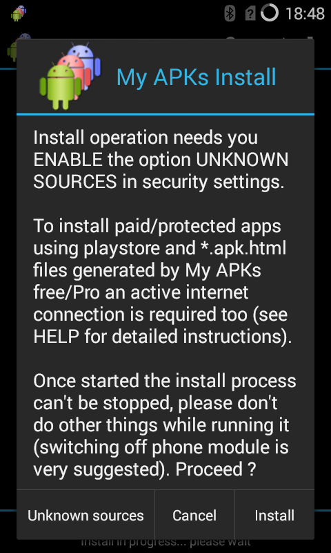 My APKs Install restore apps Screenshot 3