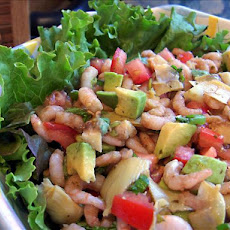 Artichoke Avocado Shrimp Salad