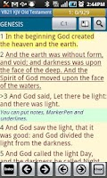 Screenshot of Visual Bible 21 KJV + LDS