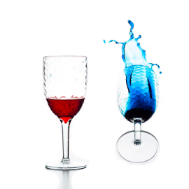 red and blue by Gesto Lane - Food & Drink Alcohol & Drinks ( flash, red, splash, glasses, blue, color, white )