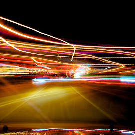 Light paths by Yu Tsumura - Abstract Light Painting ( car, paths, light painting, painting, light,  )