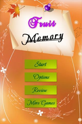 Fruits Memory Games