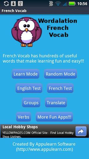 Wordalation French Vocab