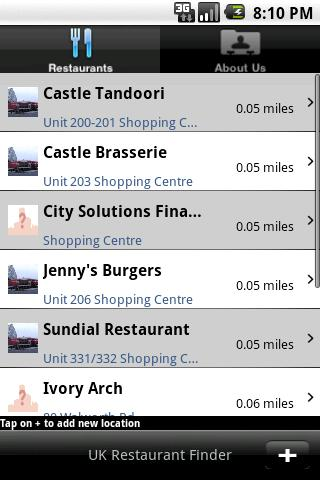 UK Restaurant Finder