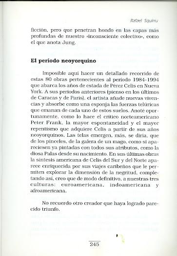 """Libro Rafael Squirru """"Libros y cuadros """" textos sobre Pérez Celis"""