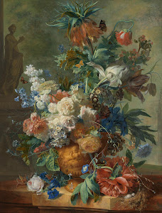 RIJKS: Jan van Huysum: Still Life with Flowers 1723