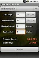 Screenshot of TimeLapse! Calculator