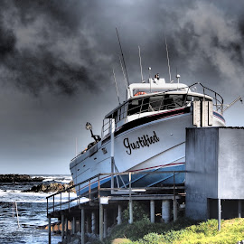 Justified. by Esther Van De Belt - Transportation Boats ( dry, land, boat, coast, west, dock,  )