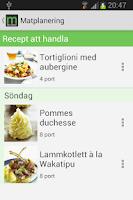 Screenshot of Matlistan