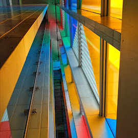 The Lift by Phil Robson - Buildings & Architecture Architectural Detail ( window, lift, gateshead, baltic, colours )