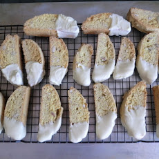 White Chocolate Dipped Lemon-Almond Biscotti