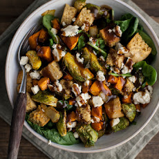 Fall Panzanella Salad with Maple-Mustard Vinaigrette