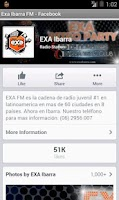 Screenshot of Exa Ibarra FM