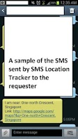 Screenshot of SMS Location Tracker