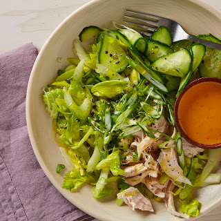 Chicken Salad with Celery, Scallions, and Marinated Cucumbers